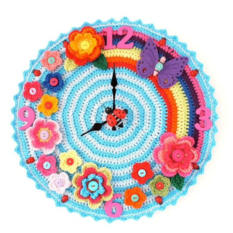 crochet_clock_free-_crochet_patterns Stunning Crochet Patterns To Decorate Your Home & Make Accessories
