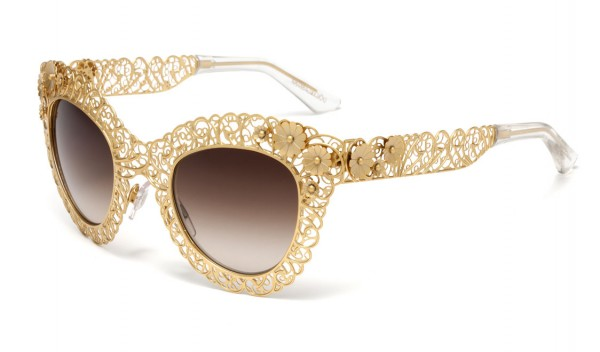dolce-and-gabbana-eyewear-fall-winter-2014-filigree-collection-02 39 Most Stylish Gold and Diamond Sunglasses in 2019