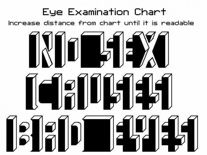 eye_exam Challenge Your Mind Through Playing These Famous Mind Tricks