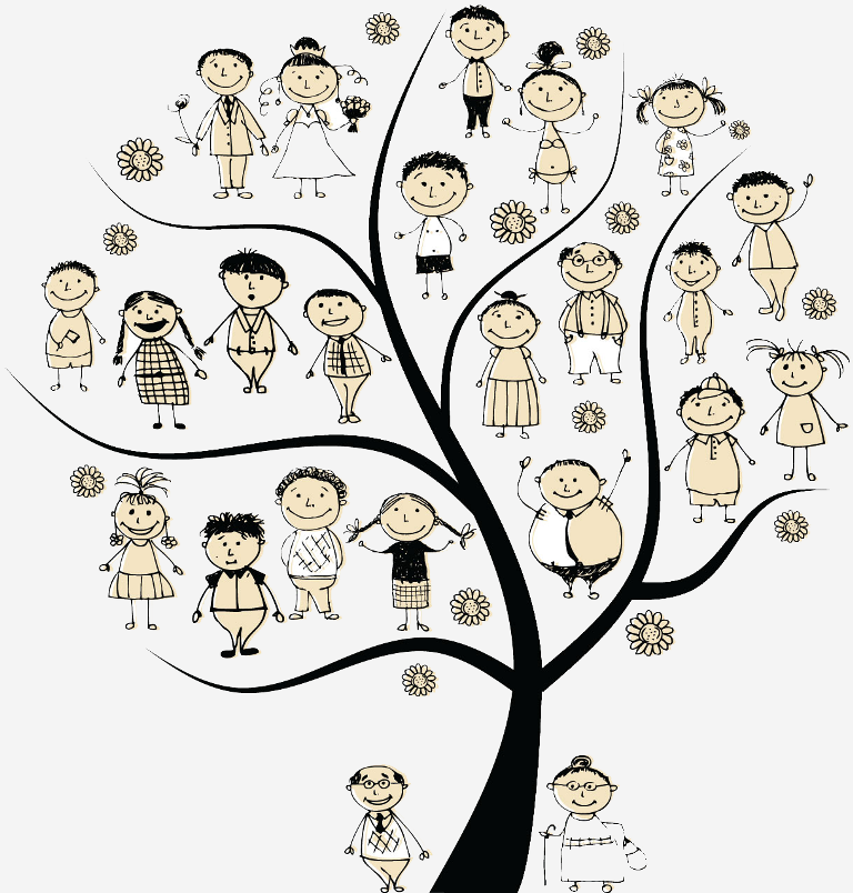 family-history-cartoon Research Your Family History to Know Who You Are