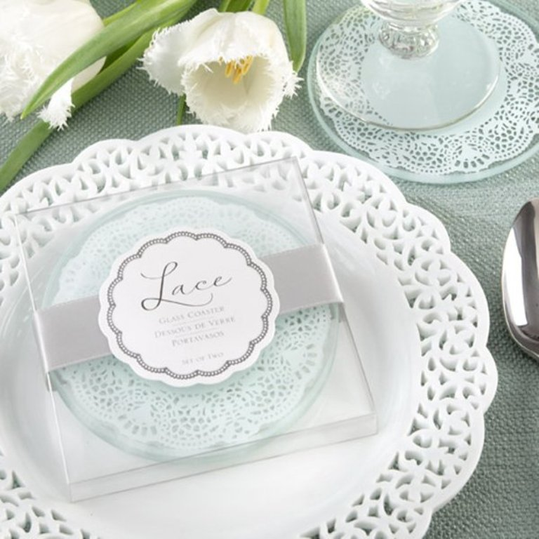 font-b-Lace-b-font-Exquisite-Frosted-Glass-font-b-Coasters-b-font-Set-of Save Money & Learn How to Make Your Own Wedding Favors