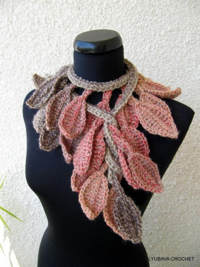 full_1476_63473_CrochetScarfLariatAutumnLeafFall_1 10 Fascinating Ideas to Create Crochet Patterns on Your Own