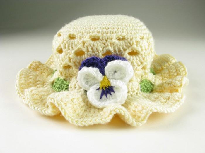 full_8527_5372_CrochetPansyEasterBonnett_1 10 Fascinating Ideas to Create Crochet Patterns on Your Own