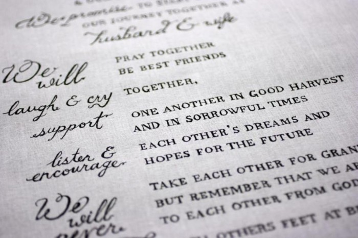 fun-with-calligraphy-and-wedding-vows-L-avyJLW Write Your Wedding Vows on Your Own to Be More Personal & Romantic