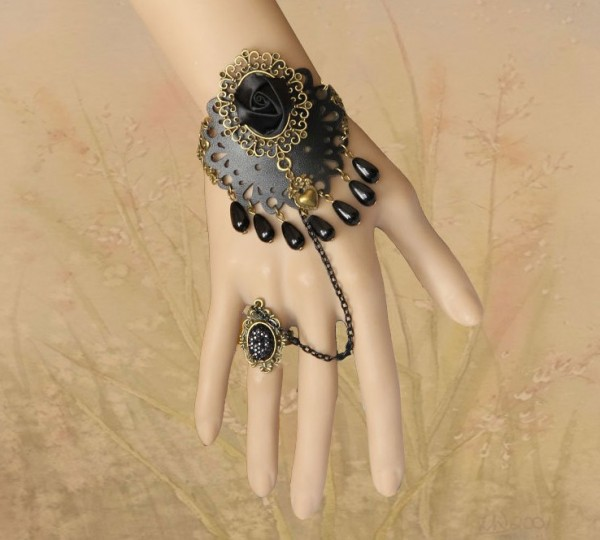 gothic-jewelry-vintage-bracelet-cuff-charm-bracelets-with-ring-popular-jewelry-fashion-womens-hand-chains-bracelets 65 Hottest Hand Back Jewelry Pieces for 2020
