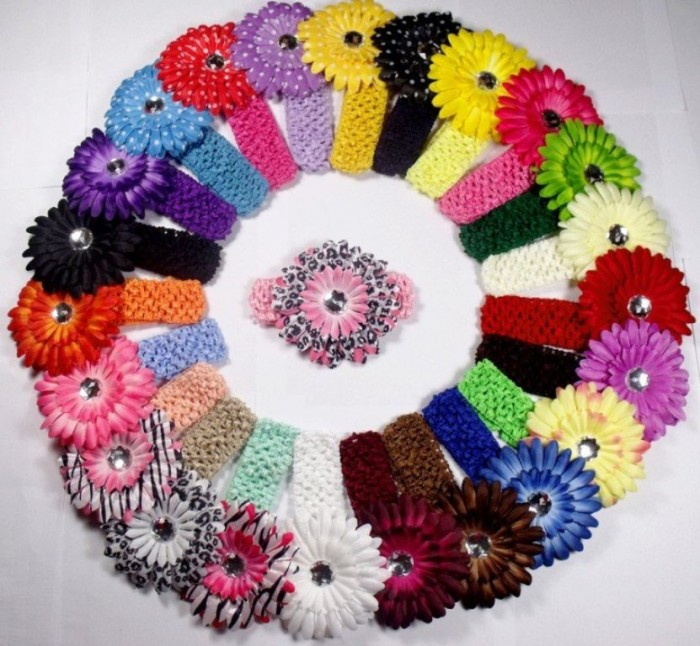 hot-selling-160pcs-Crochet-Headbands-hat-60pcs-font-b-Gerbera-b-font-font-b-Daisy-b Stunning Crochet Patterns To Decorate Your Home & Make Accessories