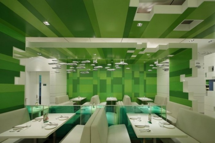 interior-of-Modern-Restaurant-with-Green-Blocks-Interior-Theme Do You Dream of Starting and Running Your Own Restaurant Business?