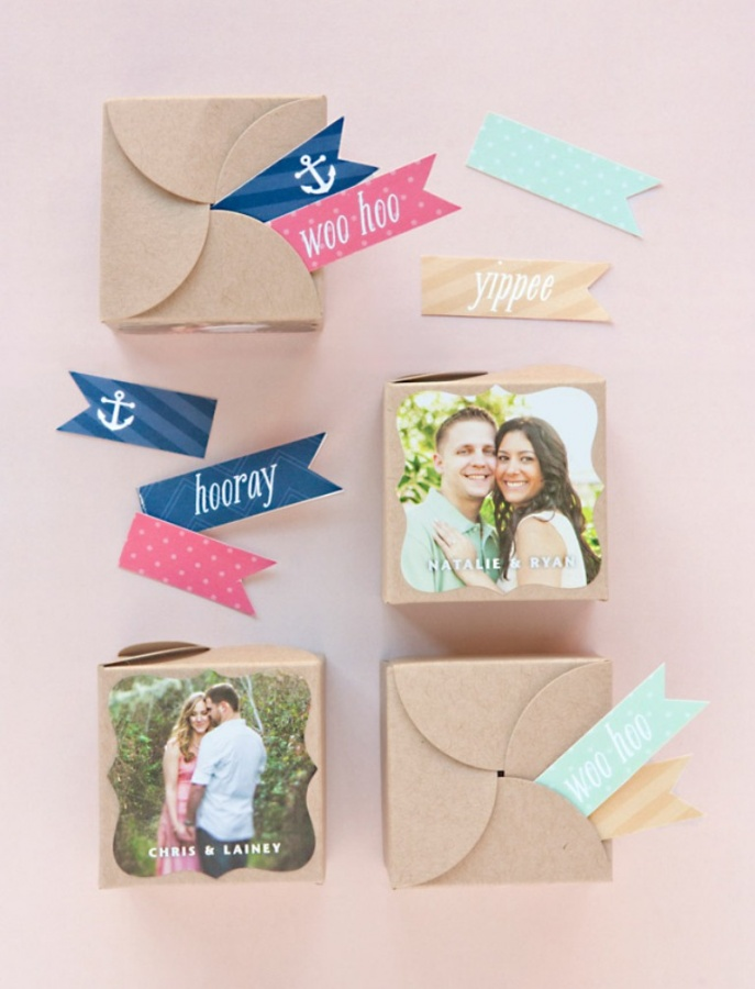 kraft-boxes-7 Save Money & Learn How to Make Your Own Wedding Favors
