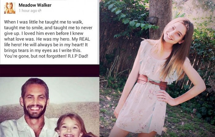 Paul Walker's only daughter, Meadow Walker.