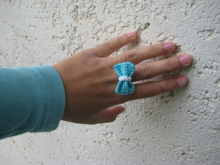 mini_crochet_bow_tie_ring_by_hope555-d654r2j Stunning Crochet Patterns To Decorate Your Home & Make Accessories