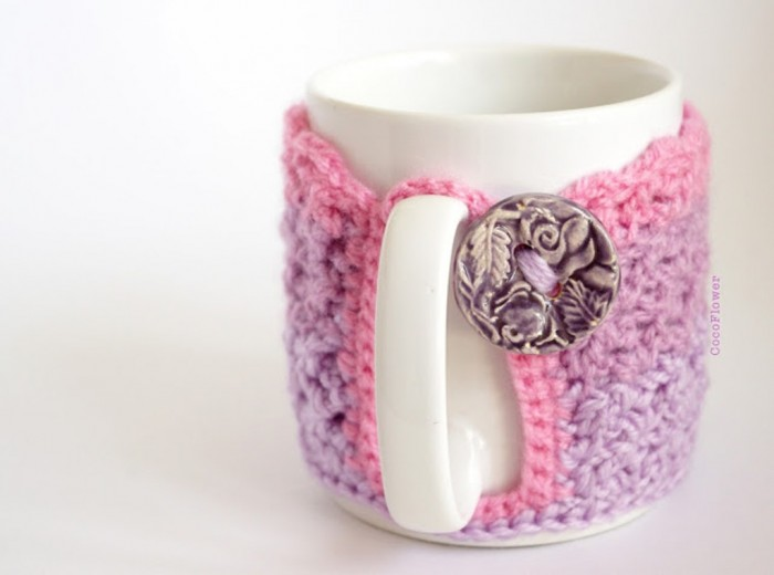 mug-crochet-cozy4 Stunning Crochet Patterns To Decorate Your Home & Make Accessories