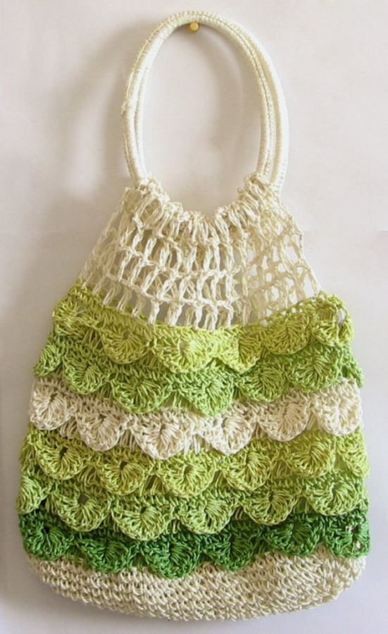 off-white-light-green-and-dark-green-crochet-bag-FI55_l 10 Fascinating Ideas to Create Crochet Patterns on Your Own