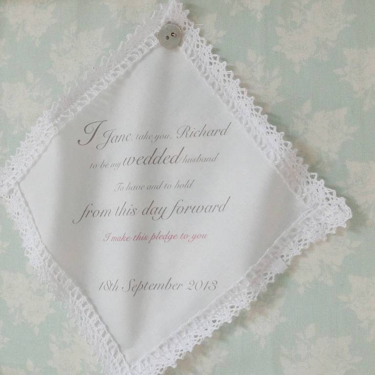 original_personalised-wedding-vows-handkerchief Write Your Wedding Vows on Your Own to Be More Personal & Romantic