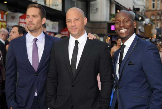 """paul-walker-vin-diesel-tyrese-gibson-getty Fast and Furious Star """"Paul Walker"""", Died At The Age Of 40 In a Car Accident"""