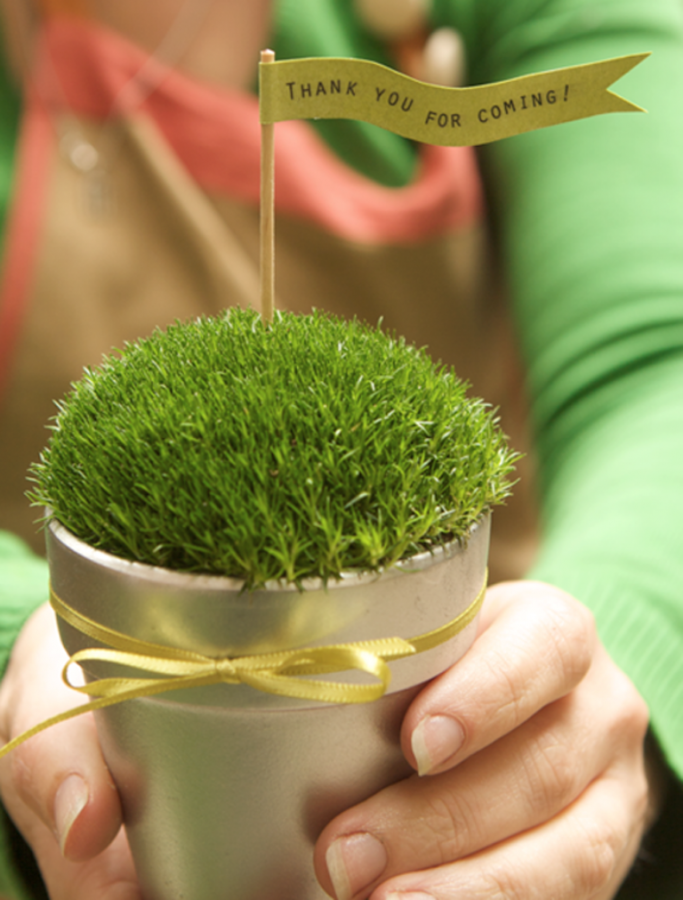 pots-of-moss-wedding-favor-diy-14 Save Money & Learn How to Make Your Own Wedding Favors