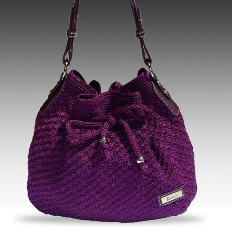 reecii-purple-crochet-bag 10 Fascinating Ideas to Create Crochet Patterns on Your Own