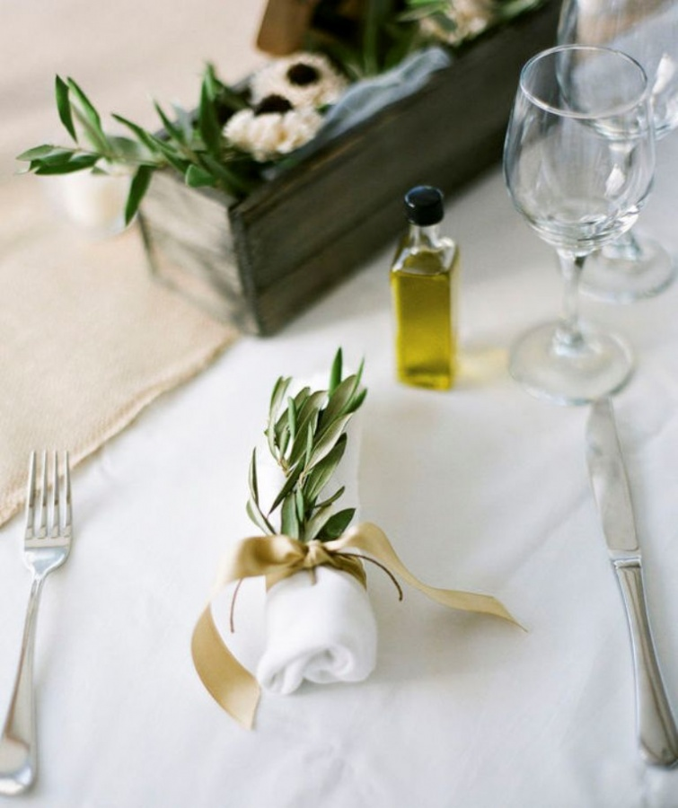 santorini-wedding-olive-oil-favor-stylemepretty Save Money & Learn How to Make Your Own Wedding Favors