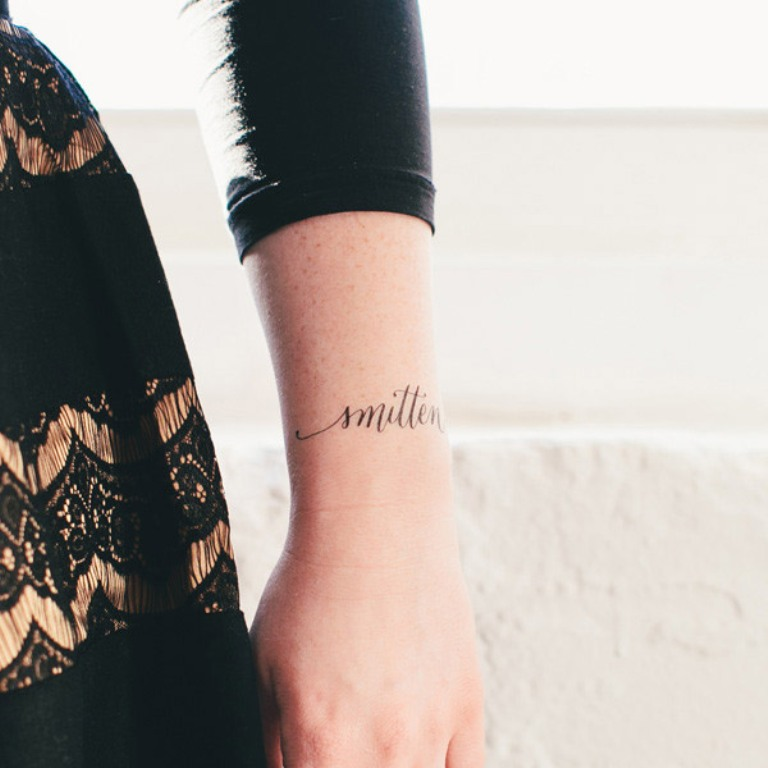 smitten-tattly-tattoo Save Money & Learn How to Make Your Own Wedding Favors