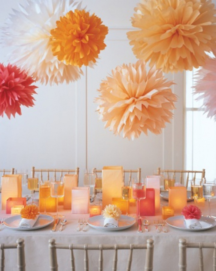 tissue-paper-pom-poms Awesome & Breathtaking Ideas for New Year's Holiday Decorations