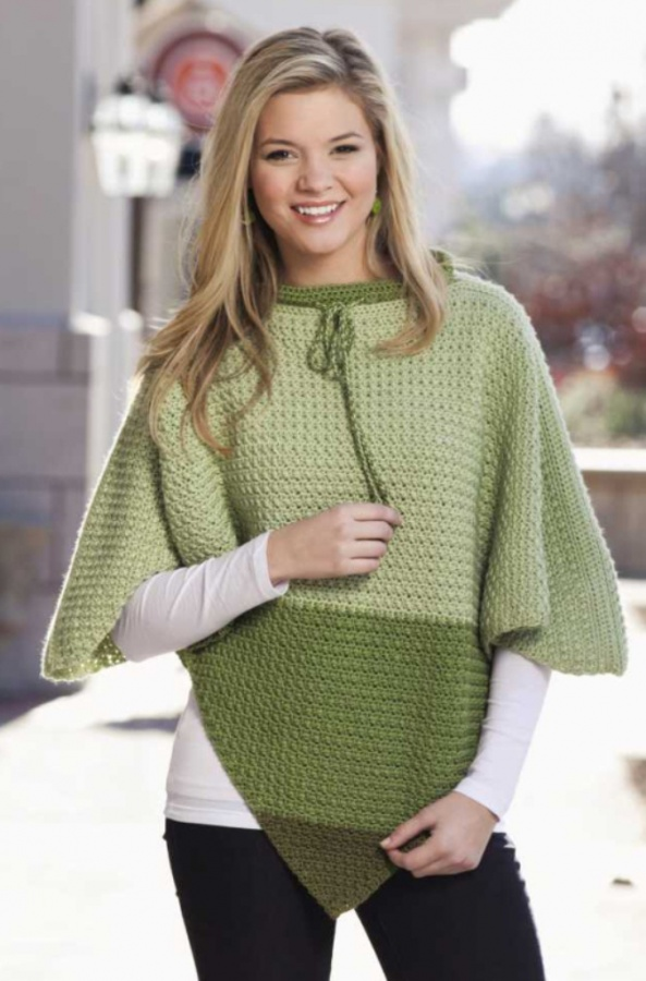 triangles-poncho 10 Fascinating Ideas to Create Crochet Patterns on Your Own