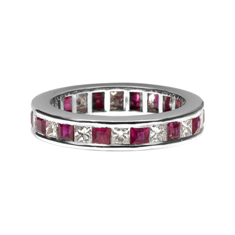 00-465 55 Fascinating & Marvelous Ruby Eternity Rings