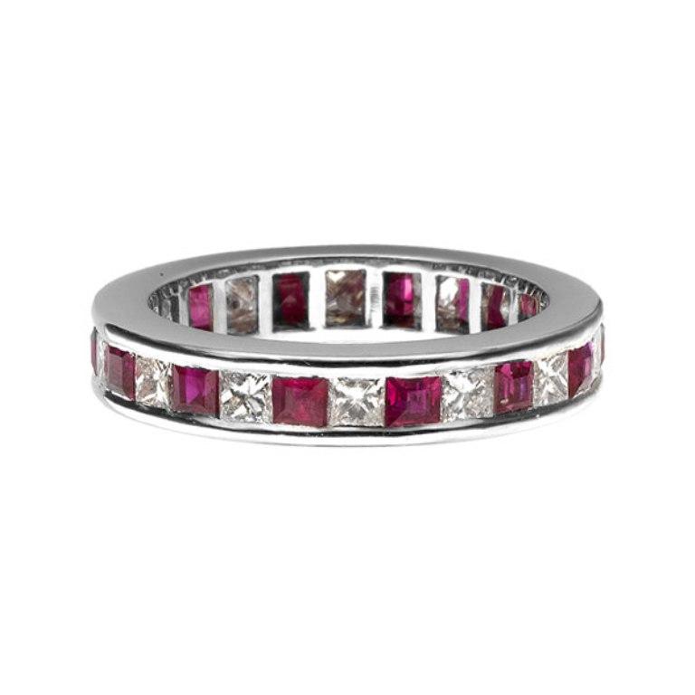 00-465 55 Fascinating & Marvelous Ruby Eternity Rings