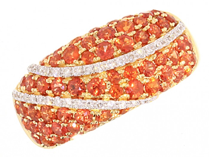 001311 40 Elegant Orange Sapphire Rings for Different Occasions