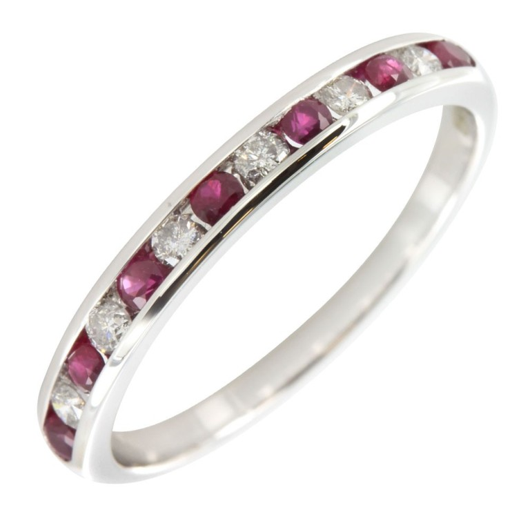 01150082 55 Fascinating & Marvelous Ruby Eternity Rings
