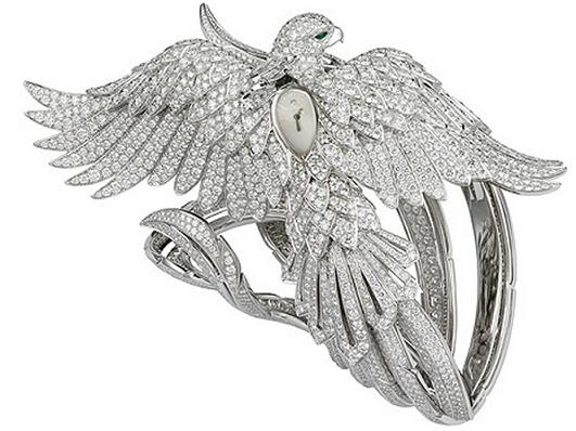 03-cartier-secret-watch-with-phoenix-decor 65 Most Expensive Diamond Watches in the World