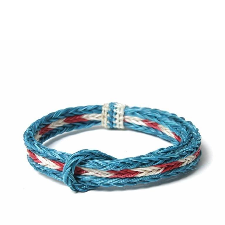 06-11-2012_chamula_braidedhorsehair_turquoiseredwhite1 45 Elegant & Breathtaking Horse Hair Bracelets