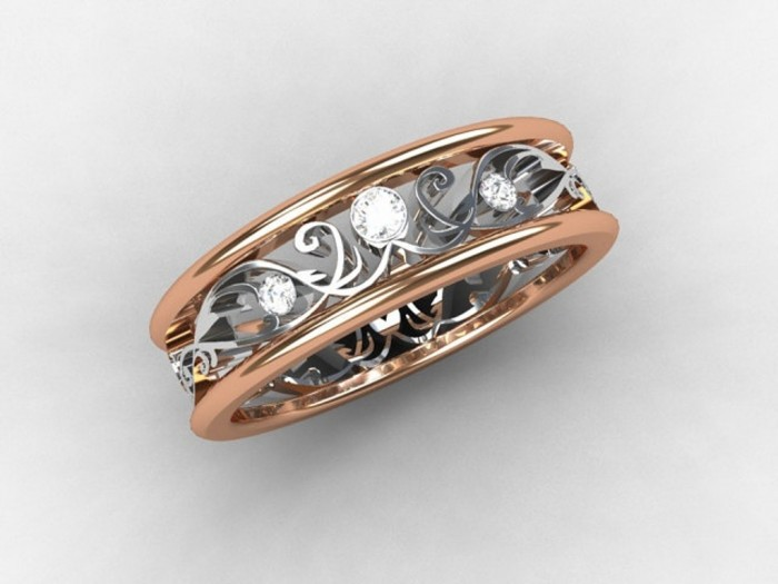 081524845d1f14959cc9b0a2d45f7b5a Top 60 Stunning & Marvelous Rose Gold Wedding Bands