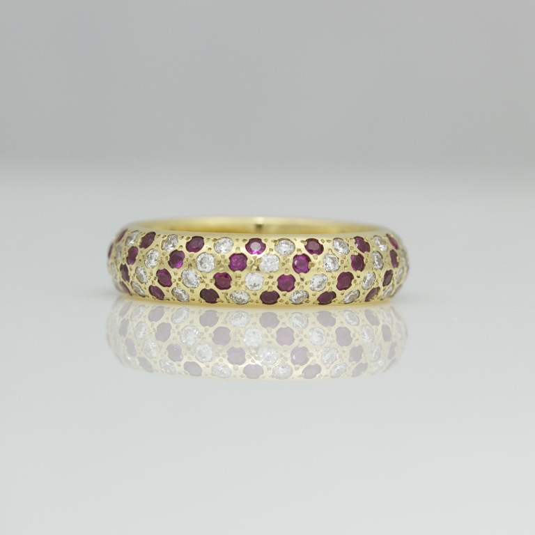 0879 55 Fascinating & Marvelous Ruby Eternity Rings