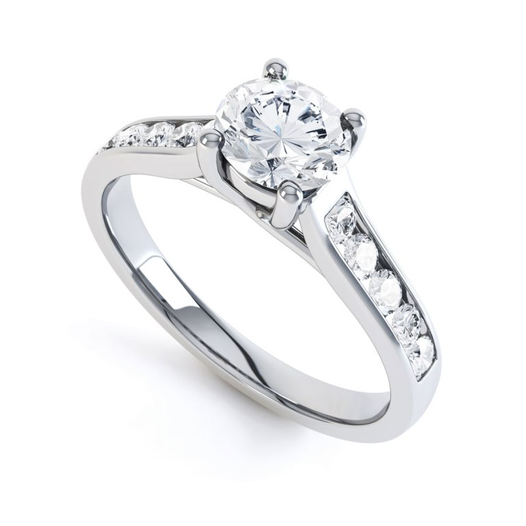 0967b-900x900 35 Fascinating & Stunning Round Solitaire Engagement Rings