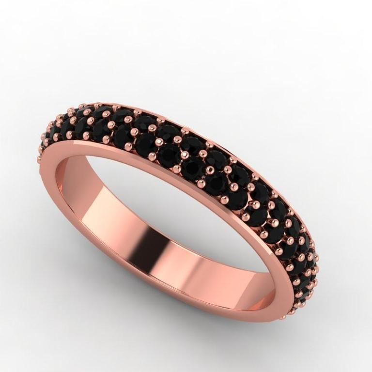 1-14k-rose-gold-black-diamond-eternity-band-eternity-collection 50 Non-Traditional Black Diamond Rose Gold Engagement Rings