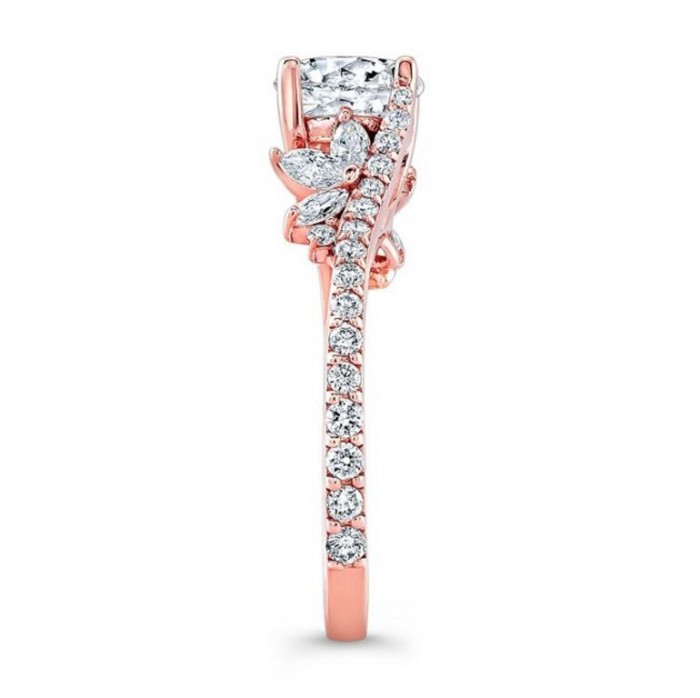 1-barkevs-rose-gold-flower-diamond-engagement-rings-1105-main Top 70 Dazzling & Breathtaking Rose Gold Engagement Rings