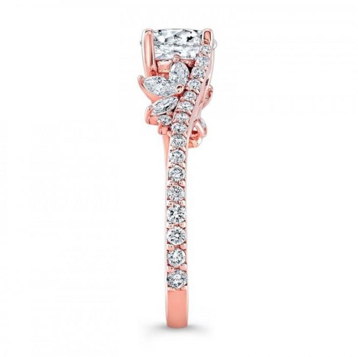 1-barkevs-rose-gold-flower-diamond-engagement-rings-1105-main Top 70 Dazzling & Breathtaking Rose Gold Engagement Rings