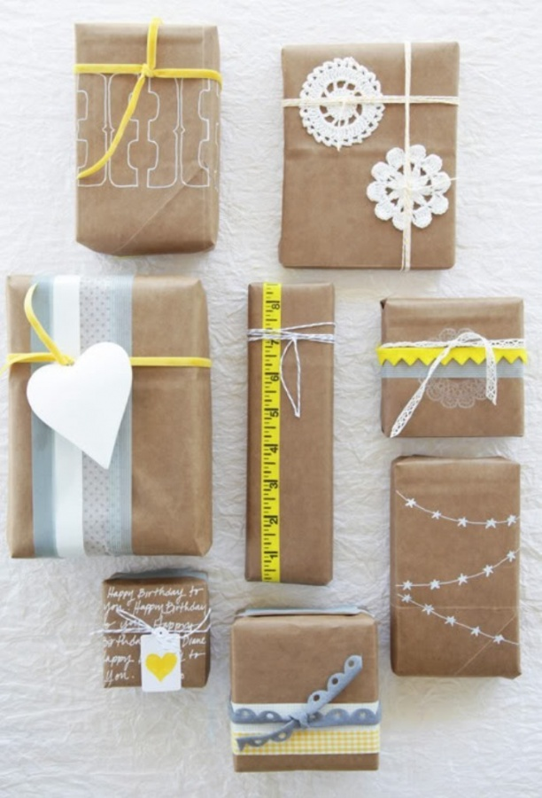 40 creative unusual gift wrapping ideas pouted online for How to wrap presents with wrapping paper