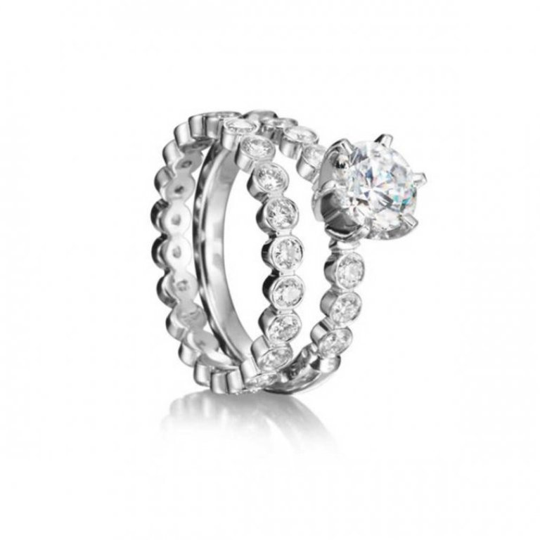 1004000413-5bccc 35 Fascinating & Stunning Round Solitaire Engagement Rings