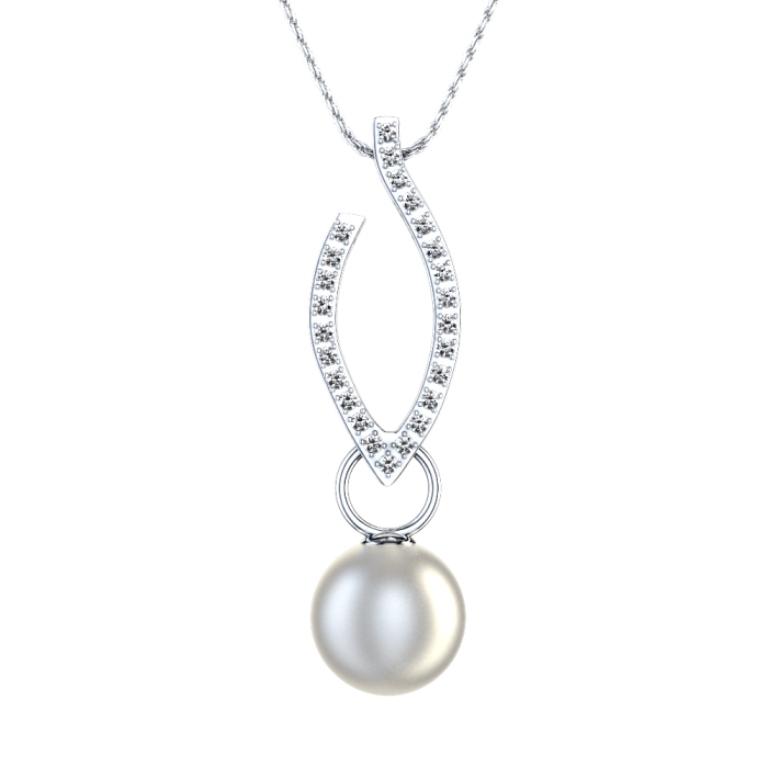 10199_pearl_diamond_pendant_top 50 Unique Diamond Necklaces & Pendants