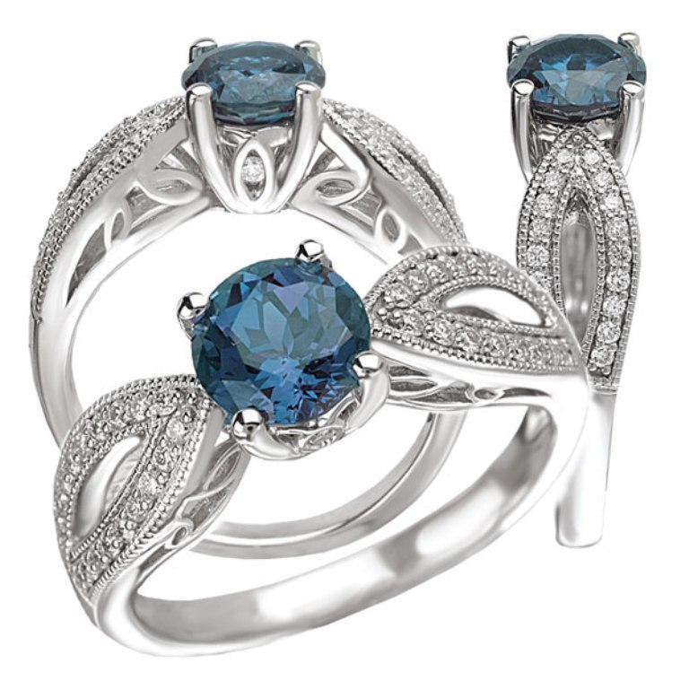 113093al 60 Magnificent & Breathtaking Colored Stone Engagement Rings