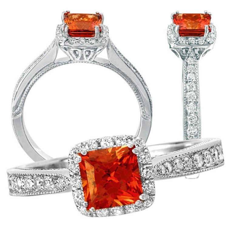117222pd 40 Elegant Orange Sapphire Rings for Different Occasions