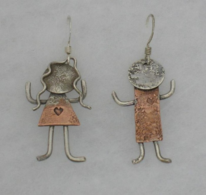 1296780301-Desideratum-Copper-And-Silver-Earrings-People 45 Unusual and Non-traditional Earrings