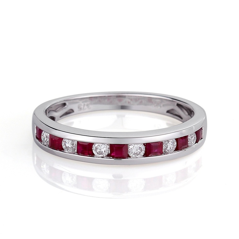 13-111-11-0002 55 Fascinating & Marvelous Ruby Eternity Rings