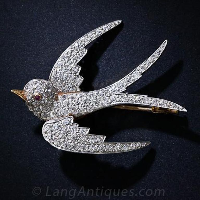 1343259056_50_1_4144__1_of_2_ 35 Elegant & Wonderful Antique Diamond Brooches