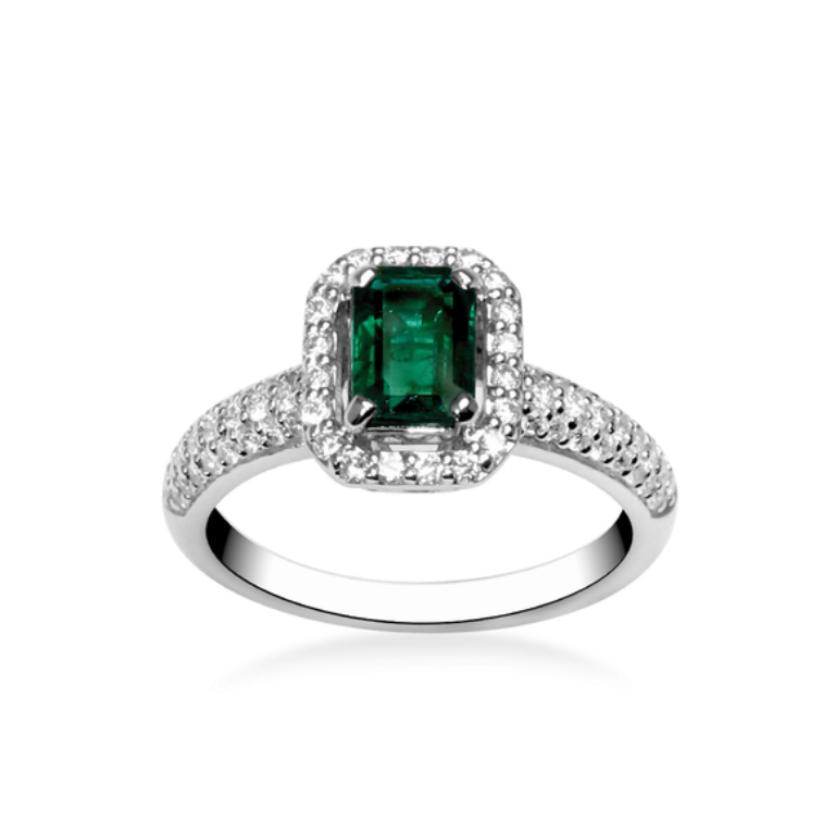 13691268911_bague-emeraude-mademoiselle_fiche 60 Magnificent & Breathtaking Colored Stone Engagement Rings