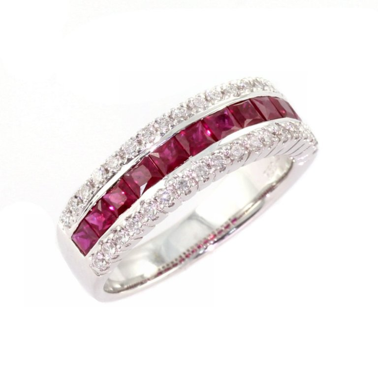 1382024059-47392000 55 Fascinating & Marvelous Ruby Eternity Rings