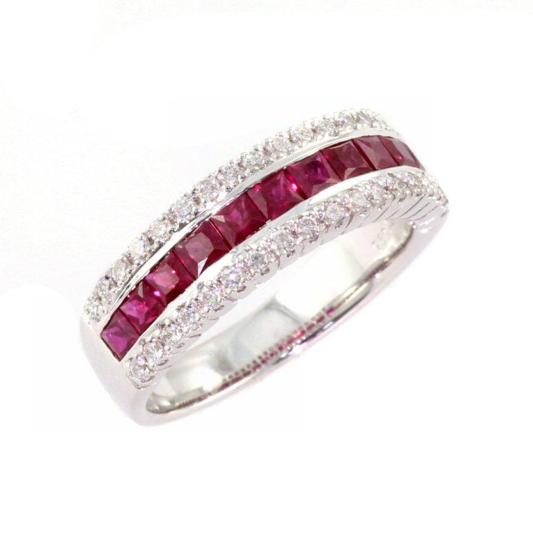 1382024059-47392000 55 Fascinating & Marvelous Ruby Eternity Rings