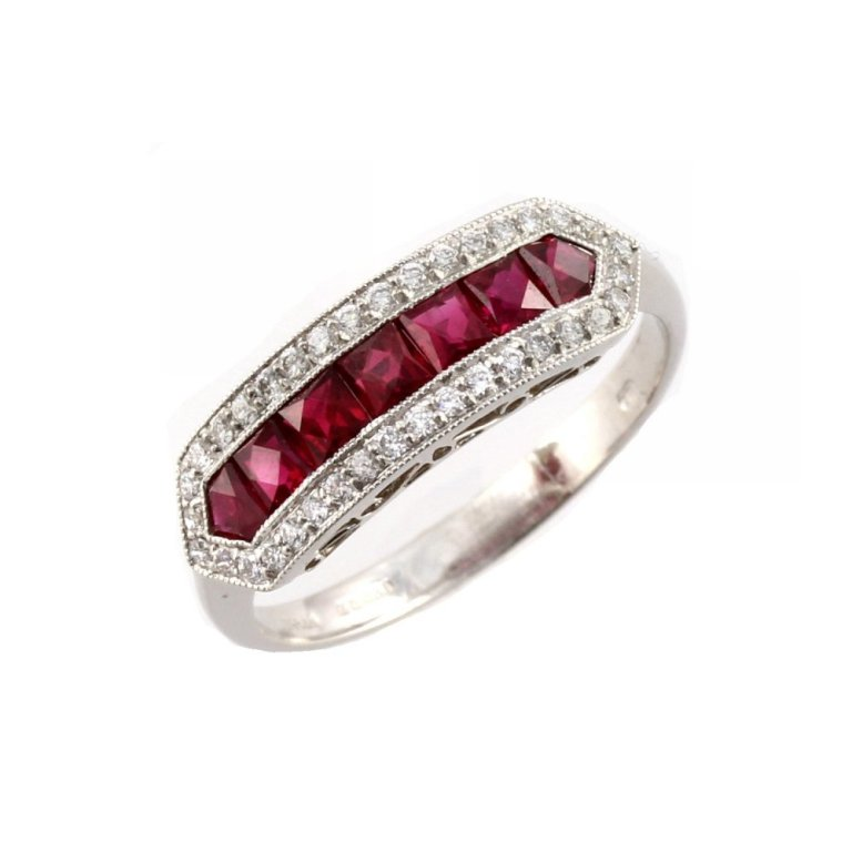 1382024117-13840900 55 Fascinating & Marvelous Ruby Eternity Rings