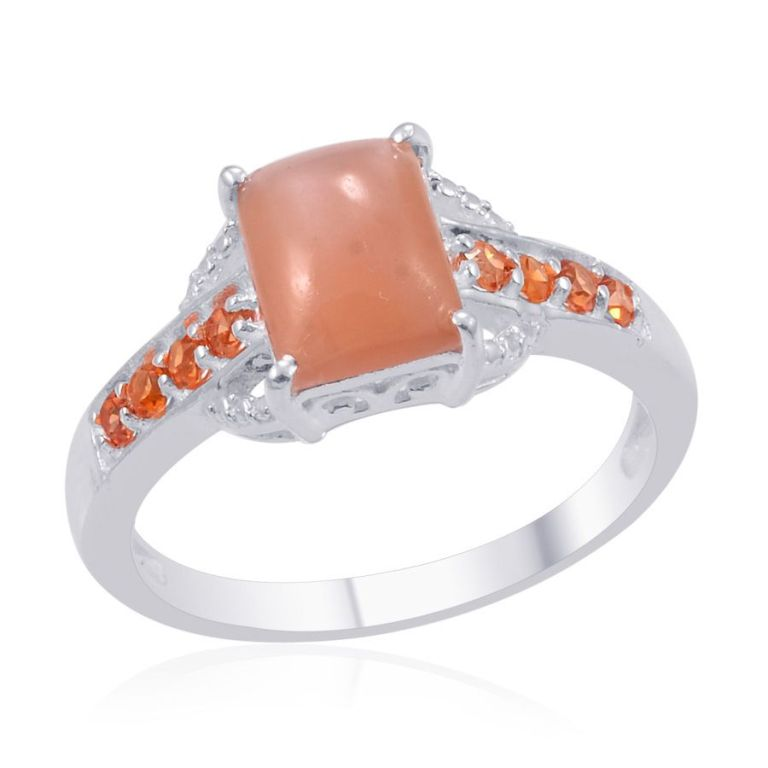 1382737 40 Elegant Orange Sapphire Rings for Different Occasions