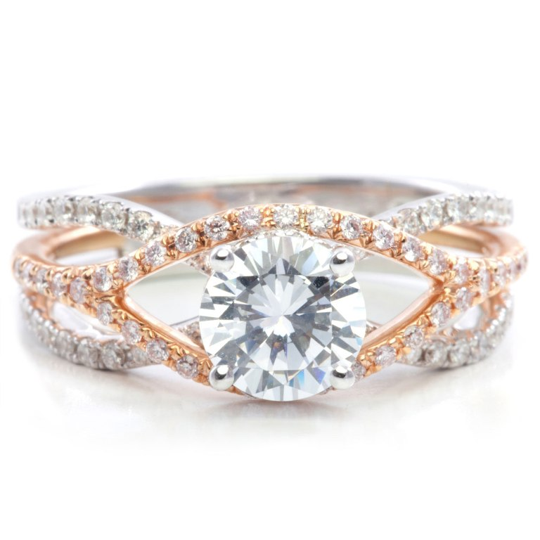 140-526_3 Top 70 Dazzling & Breathtaking Rose Gold Engagement Rings